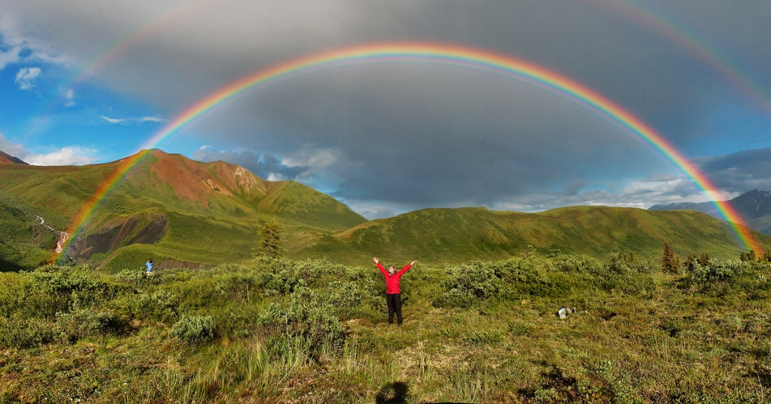 double rainbow grief praise beauty love transformation