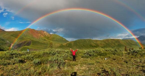 double rainbow grief praise beauty love transformation