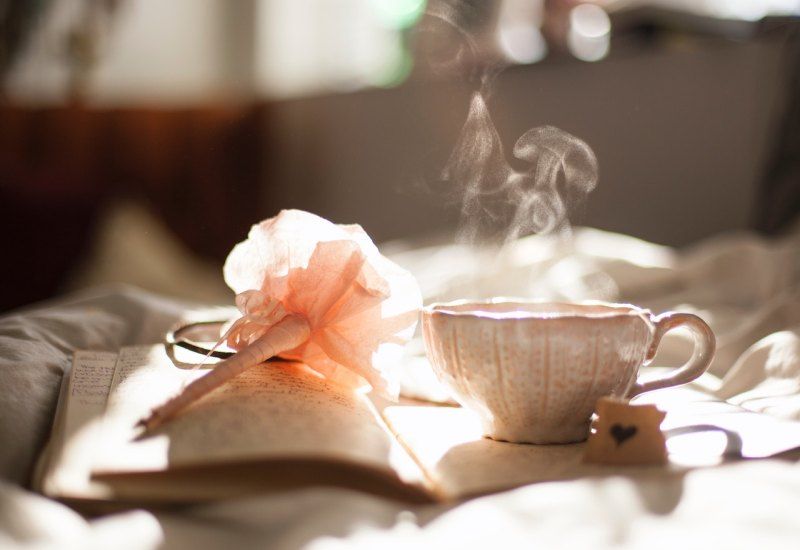poetic poetry heart tea reading relaxing