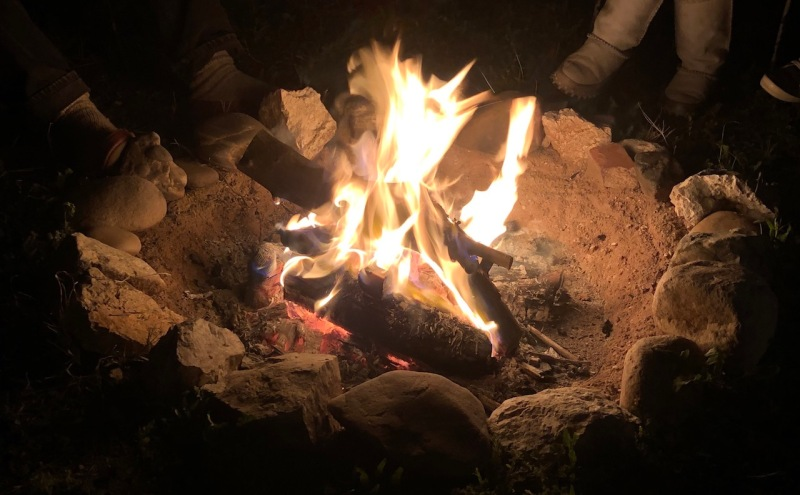 campfire ceremony with friends