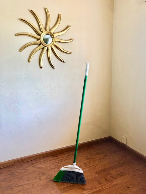Equinox broom standing on end