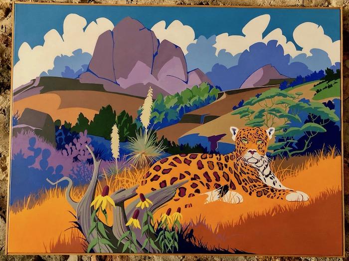 Jaguar in Brwon Canyon of the Baboquivari Mountains
