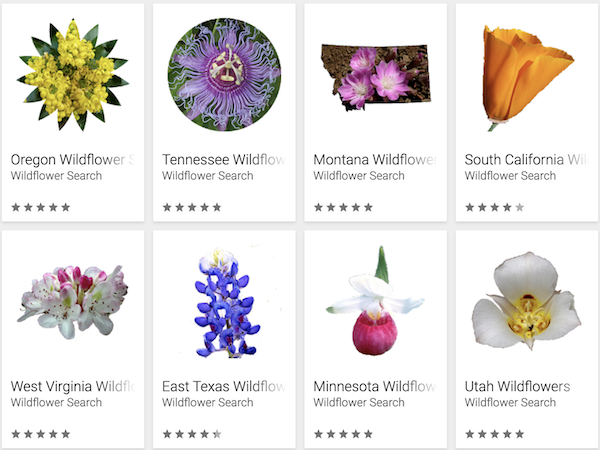 examples of other wildflower apps
