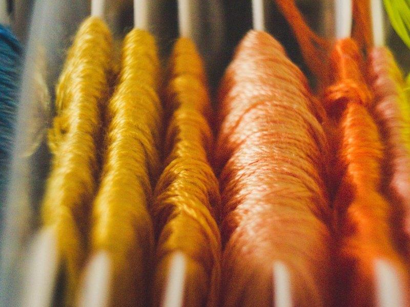 colorful dental floss