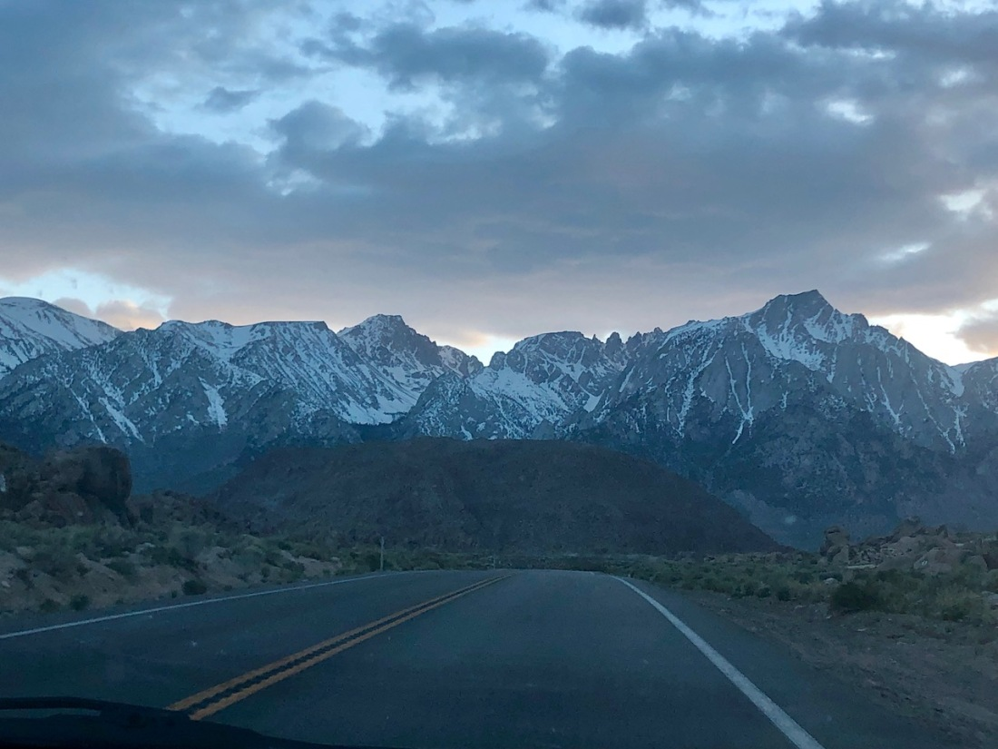 Eastern Sierra Nevada just past dusk
